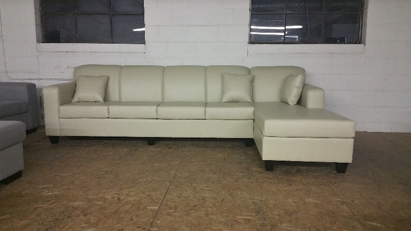 "Brand New Large Comfy Leather Sectional!! 124""65"" $900 Obo With Regard To Durham Region Sectional Sofas (Image 6 of 10)"