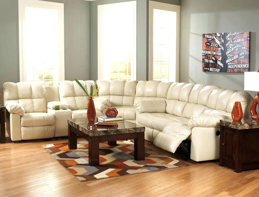 Brandie Leather 6 Piece Sectional Sofa With 3 Power Recliners Sofas Pertaining To Sectional Sofas With Power Recliners (Image 2 of 10)