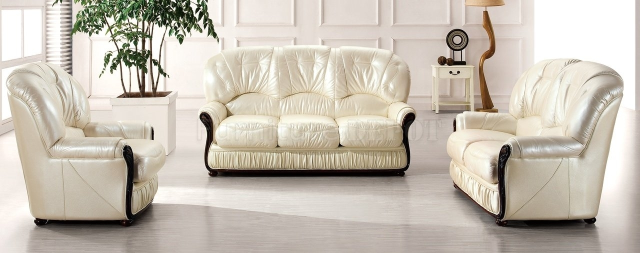 Brilliant Leather White Sofa Sofa Inspiring Off White Leather Sofa Regarding Off White Leather Sofas (Image 1 of 10)