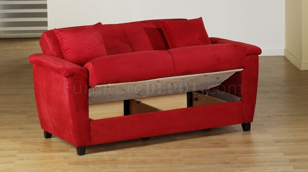 Brilliant Red Sofa Sleeper Perfect Living Room Design Inspiration In Red Sleeper Sofas (Image 2 of 10)