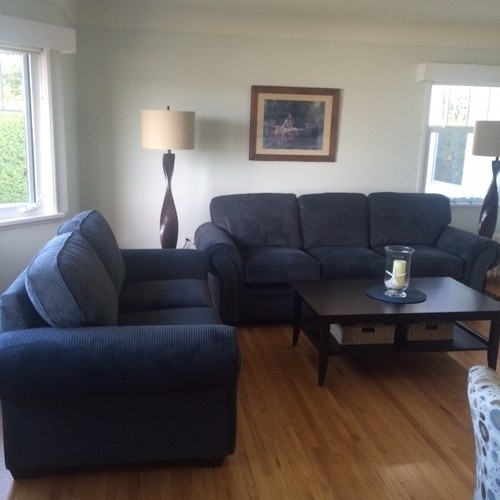 Bring Together Grey/blue Sofa And Accent Chairs Inside Blue Sofa Chairs (Image 3 of 10)