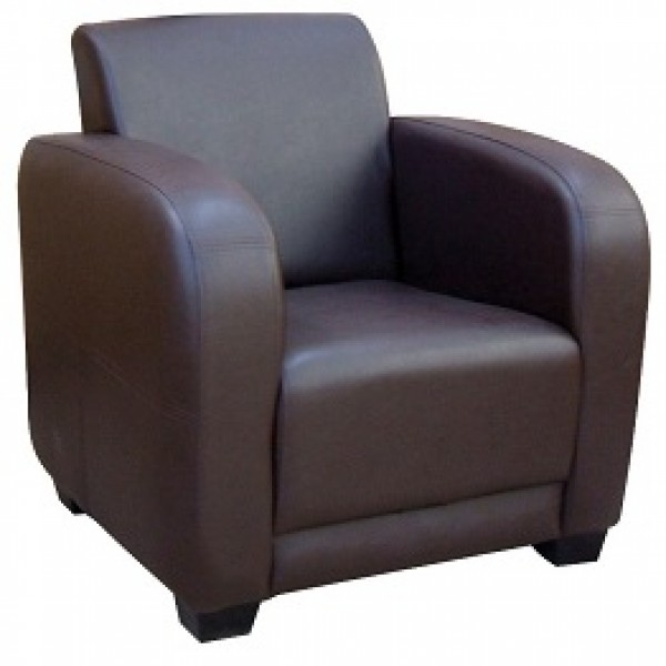 British Made Single Seater Settee Or Arm Chair Finished In Dark With Regard To Single Sofas (View 7 of 10)