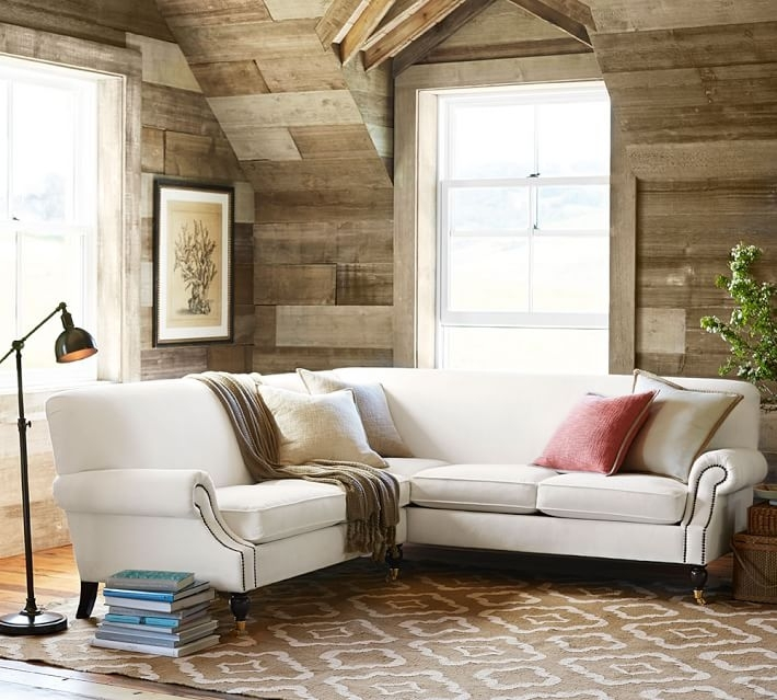 Brooklyn Upholstered 2 Piece L Shaped Sectional | Pottery Barn Regarding Pottery Barn Sectional Sofas (Image 1 of 10)
