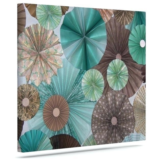 Brown And Teal Wall Art Home Decor Wall Art Teal And Brown Flower Inside Blue And Brown Canvas Wall Art (Image 7 of 20)