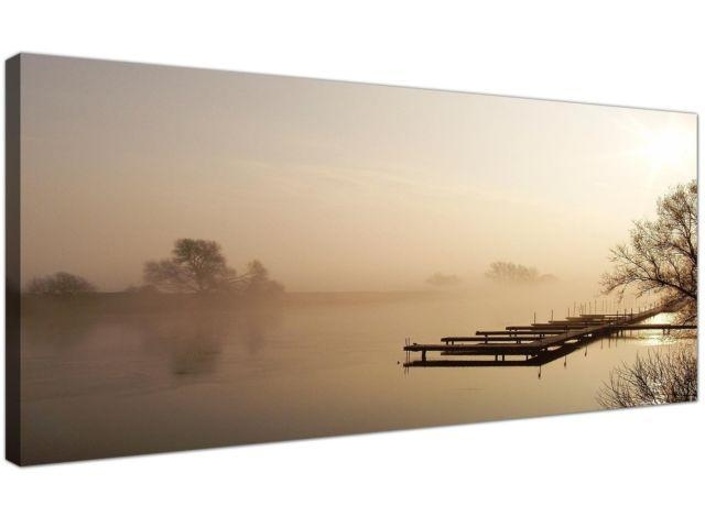 Brown Large Canvas Wall Art Of Jetty Lake Landscape 1117 | Ebay Inside Jetty Canvas Wall Art (Image 4 of 20)