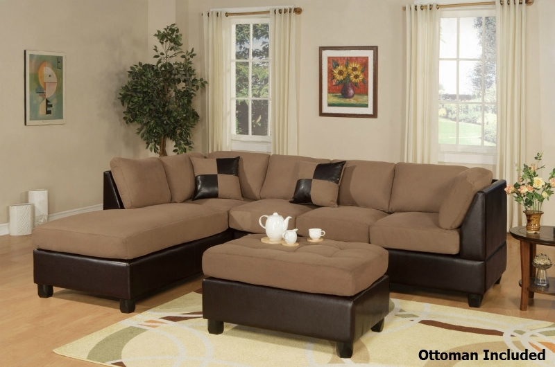 Brown Leather Sectional Sofa And Ottoman – Steal A Sofa Furniture With Leather Sectionals With Ottoman (Image 5 of 10)