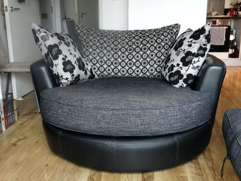 Brown Swivel Chair Corner Sofa And Club Bulay With Regard To Chairs Intended For Swivel Sofa Chairs (Image 2 of 10)