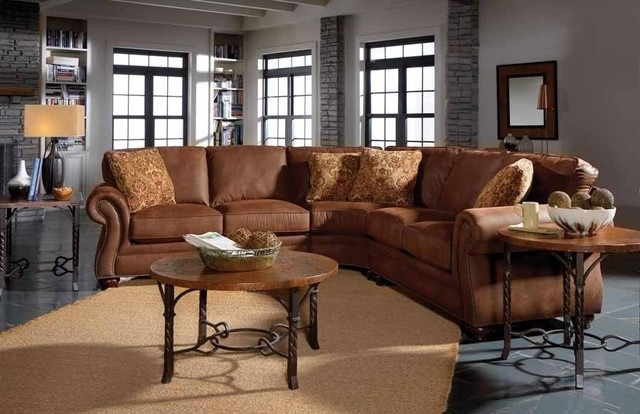 Broyhill Laramie Sectional Sofa With Wedge 5080 2 5080 8 Faux Throughout Faux Leather Sectional Sofas (Image 3 of 10)