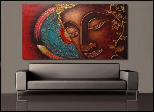 Buddha India Canvas Painting Prints Wall Art Home Decor Unframed In India Canvas Wall Art (Image 3 of 20)