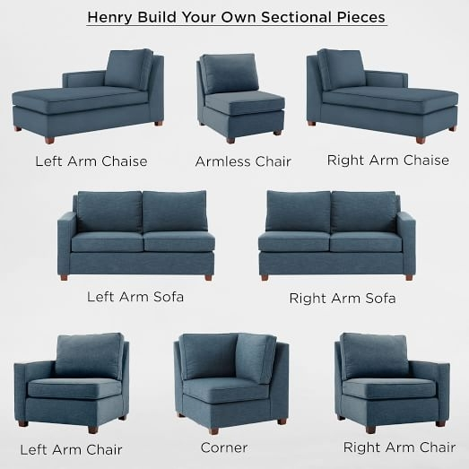 Build Your Own – Henry® Sectional Pieces | West Elm Within Individual Piece Sectional Sofas (Image 2 of 10)