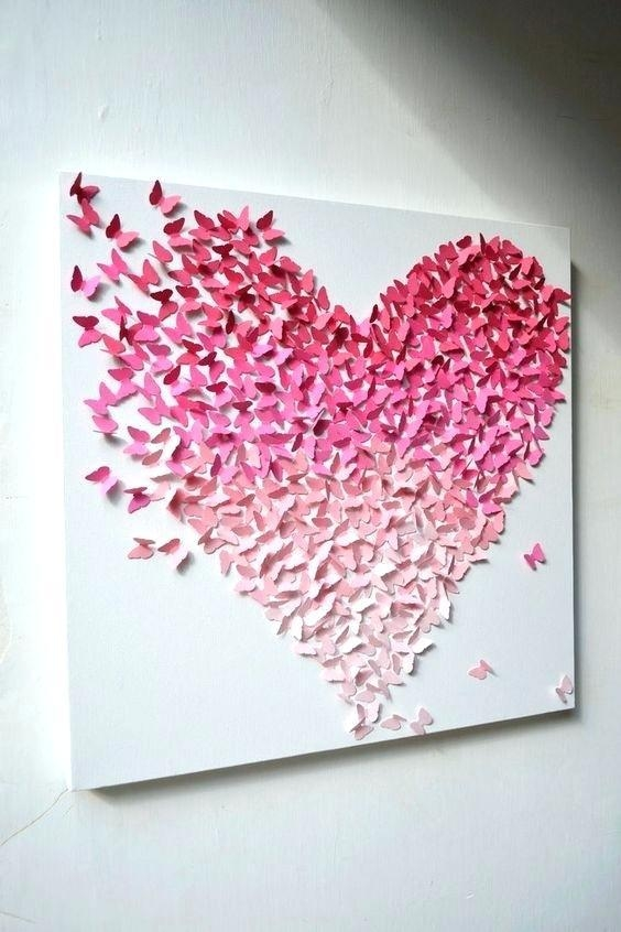 Butterflies For Wall Decoration Butterfly Canvas Wall Art Sweet With Regard To Butterflies Canvas Wall Art (Image 6 of 20)