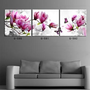 Buy 3 Piece Canvas Art Prints For Home Decoration Wall Art Picture For Orchid Canvas Wall Art (Image 8 of 20)
