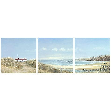 Buy Anthony Waller – Coastal Pathway Trip Print On Canvas, Set Of For John Lewis Canvas Wall Art (View 11 of 20)