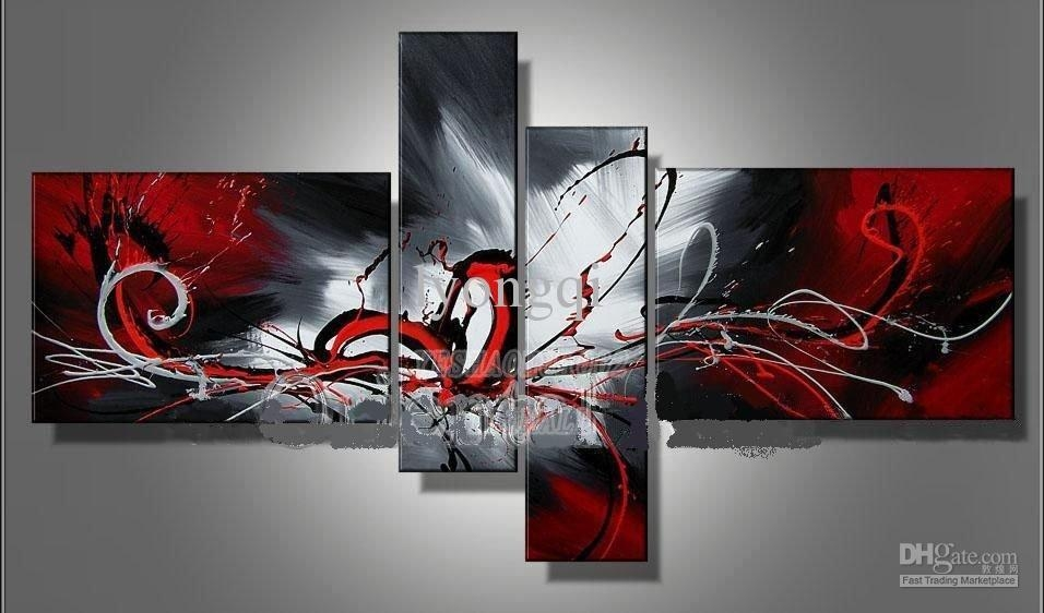 Buy Cheap Paintings For Big Save, Hand Painted Hi Q Modern Wall With Regard To Hand Painted Canvas Wall Art (Image 5 of 20)