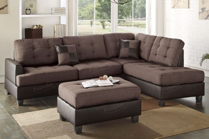 Buy Chocolate 3 Pieces Sectional Sofa In El Paso, Tx – Ecof For El Paso Texas Sectional Sofas (Image 3 of 10)