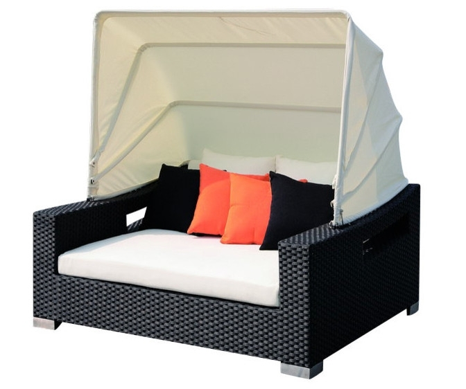 Buy Outdoor Sunbed And Get Free Shipping On Aliexpress Pertaining To Outdoor Sofas With Canopy (Image 3 of 10)