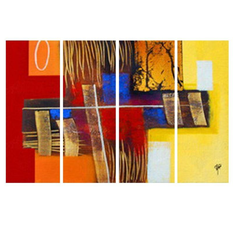 Buy Ray Decor's Multiple Sparkling Abstract Wall Painting 4 Frames Intended For India Abstract Wall Art (Image 4 of 20)