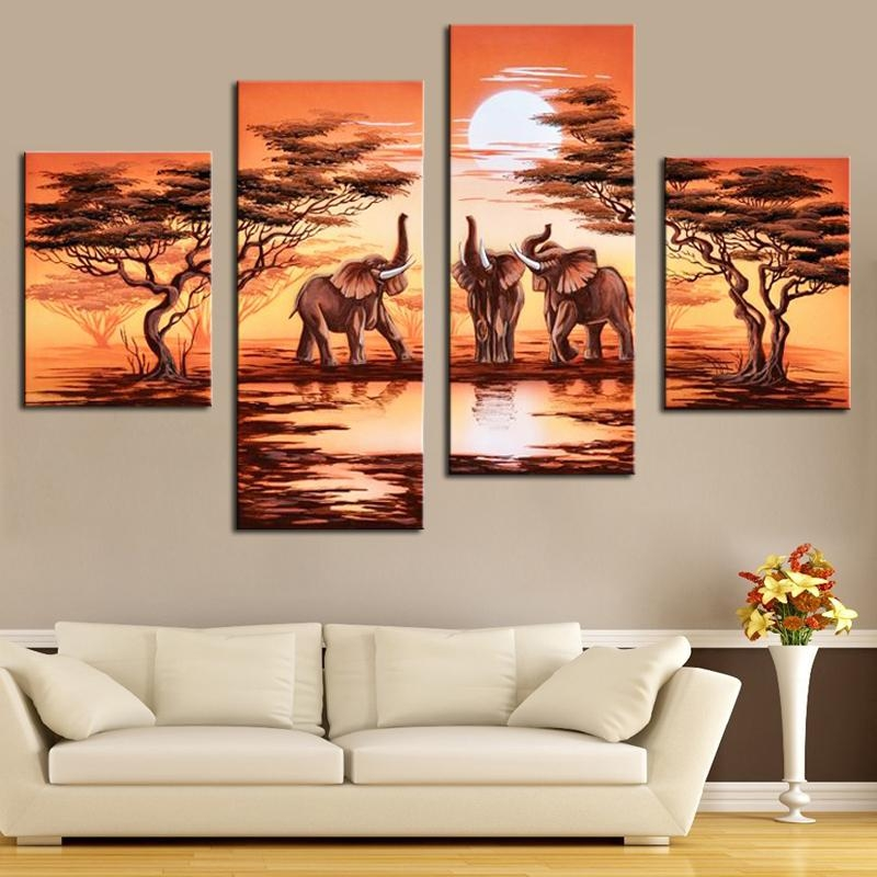 Buy Safari Paintings And Get Free Shipping On Aliexpress Within Safari Canvas Wall Art (View 10 of 20)