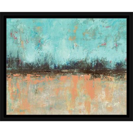 Buy Trendy Triangle Textured Contemporary Modern Abstract Painting Regarding Abstract Horizon Wall Art (Image 5 of 20)