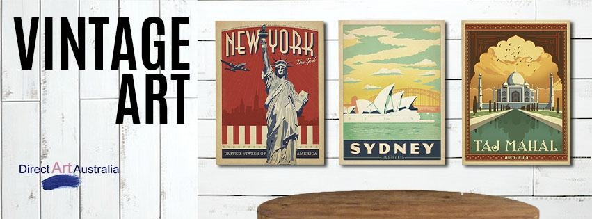 Buy Vintage Art Prints Posters On Canvas Online Antiques Within Retro Canvas Wall Art (Image 9 of 20)