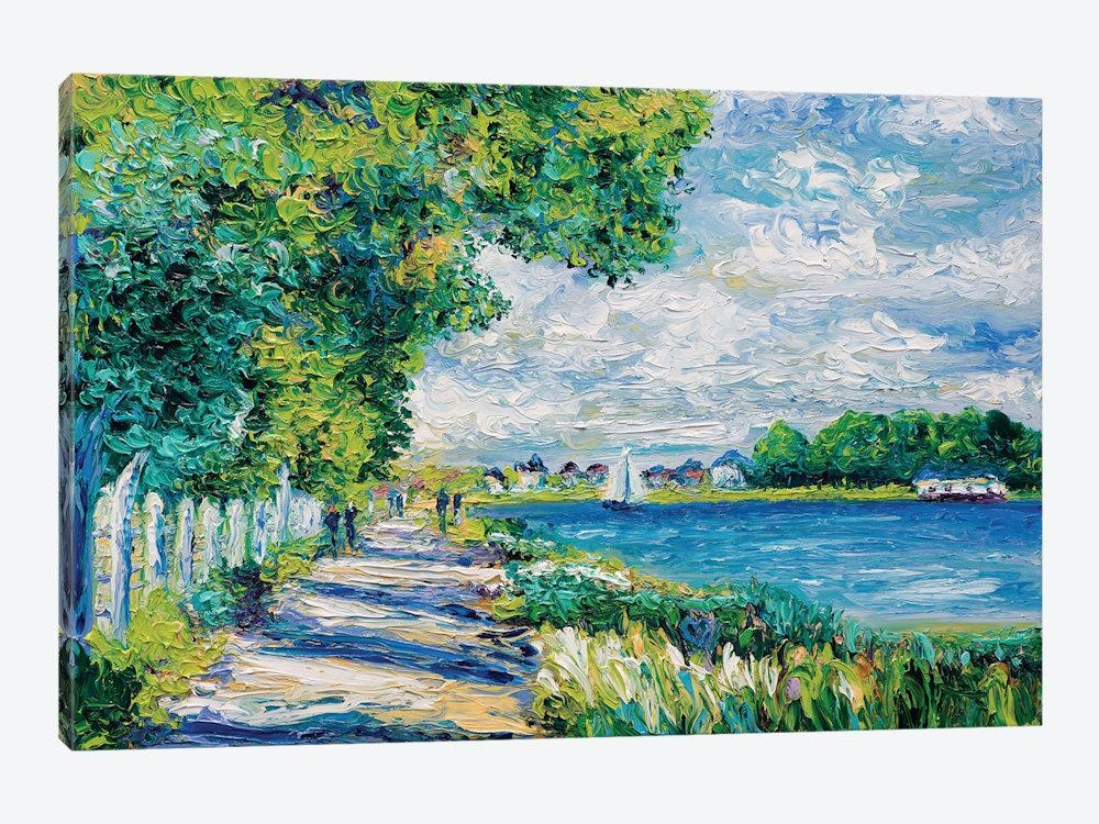 By The Sea (Tribute To Monet) Canvas Wall Artkimberly Adams With Regard To Monet Canvas Wall Art (Image 1 of 20)