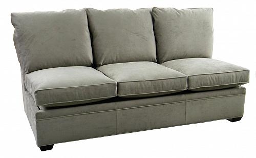 Byron Sectional Armless Queen Sleeper Sofa Air Mattress Carolina In Made In North Carolina Sectional Sofas (Image 2 of 10)