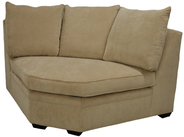 Byron Sectional Sofa Curved Corner Wedge – Carolina Chair North With Rounded Corner Sectional Sofas (Image 1 of 10)