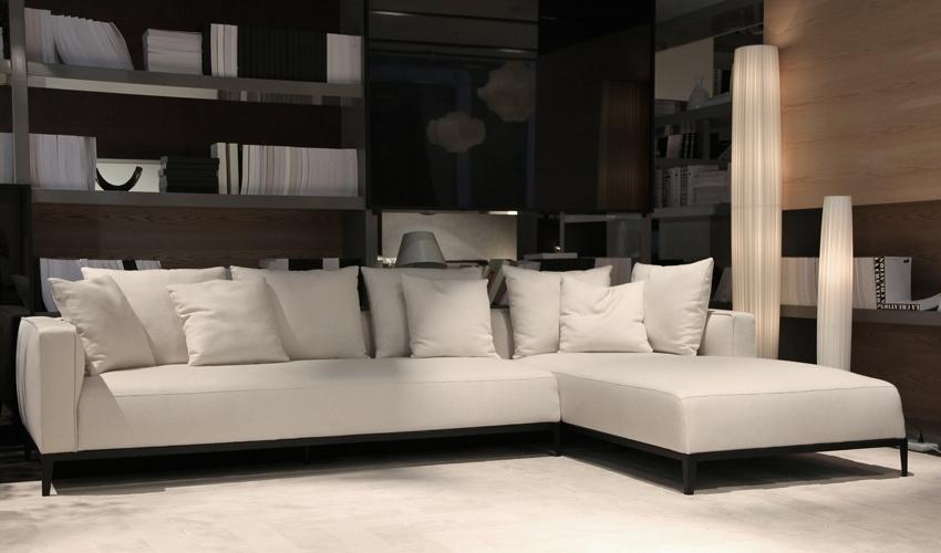 California Sectional Sofa In Grey Brick Fabric | Buy Sectional Sofas With Sectional Sofas At The Brick (View 8 of 10)