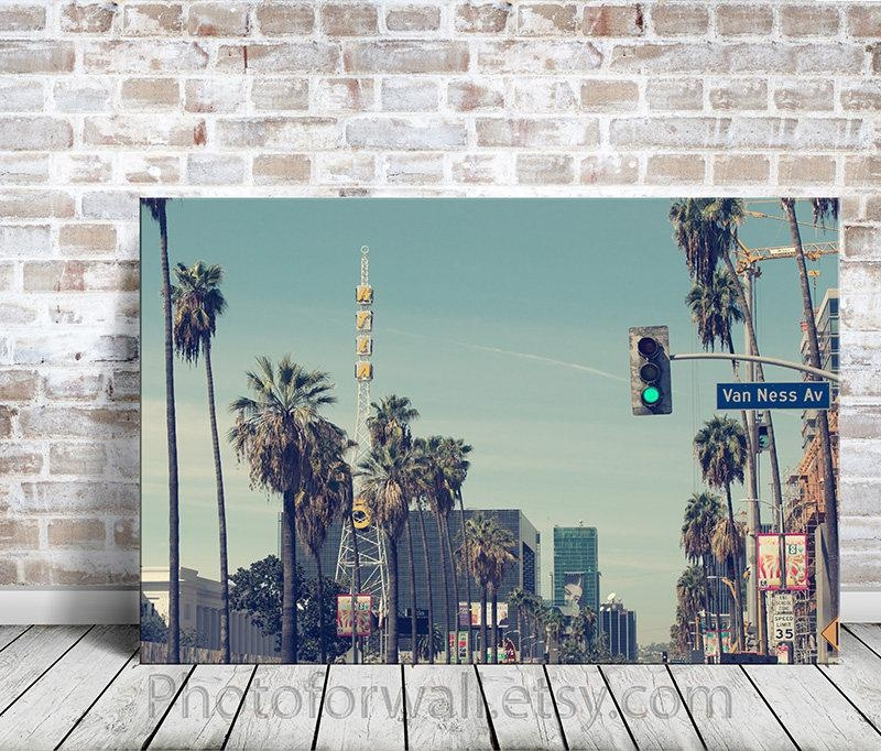 California Wall Art, Large Wall Art, Large Wall Art Canvas, Office In Los Angeles Canvas Wall Art (Image 5 of 20)