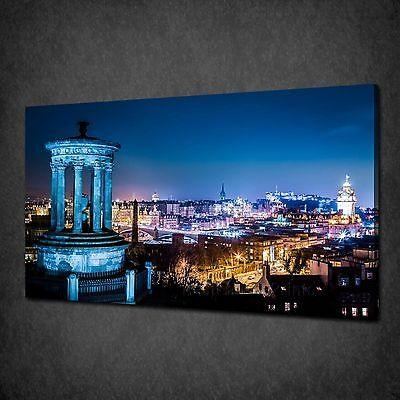 Calton Hill Edinburgh Skyline Single Canvas Wall Art Print Picture In Edinburgh Canvas Prints Wall Art (Image 1 of 20)