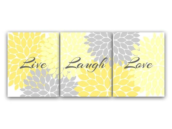 Canvas And Prints Home Decor Wall Art Live Laugh Love Yellow Pertaining To Live Laugh Love Canvas Wall Art (Image 1 of 20)
