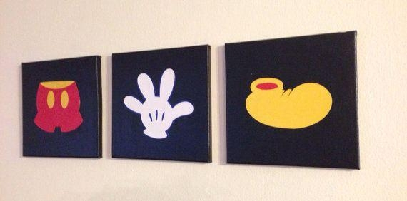 Canvas Art | Baby J <3 | Pinterest | Mickey Mouse, Canvases And Mice Inside Mickey Mouse Canvas Wall Art (Photo 2 of 20)