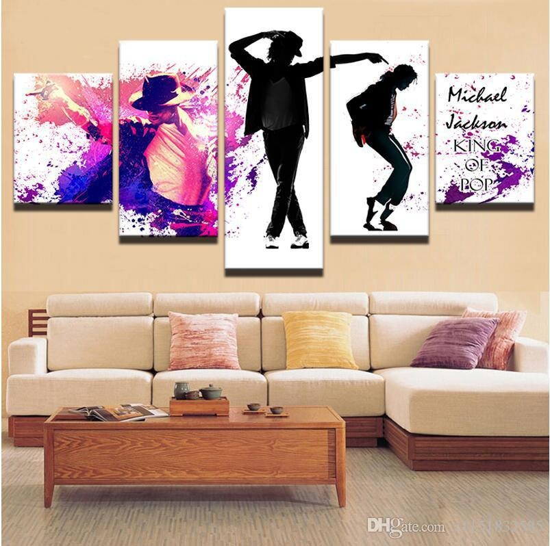 Canvas Art Pictures Of Dancing Michael Jackson Abstract Style Oil Intended For Michael Jackson Canvas Wall Art (View 10 of 20)