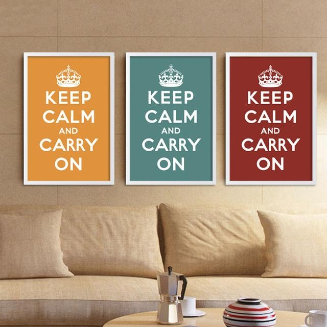 Canvas Art Print Poster Keep Calm And Carry On Inspired Quotes Regarding Keep Calm Canvas Wall Art (View 9 of 20)