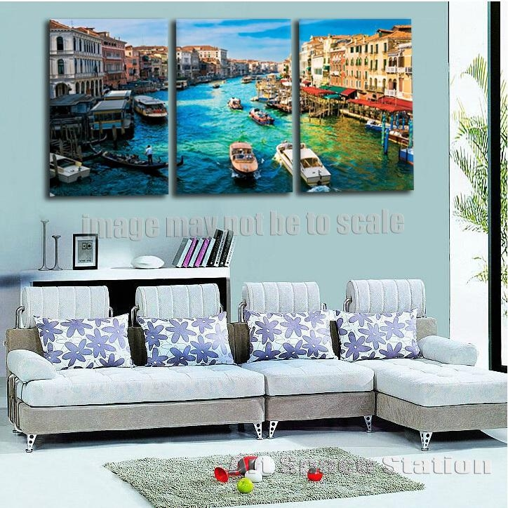 Canvas Art Print Venice Italy Grand Canal From Rialto Bridge With Canvas Wall Art Of Italy (Image 7 of 20)