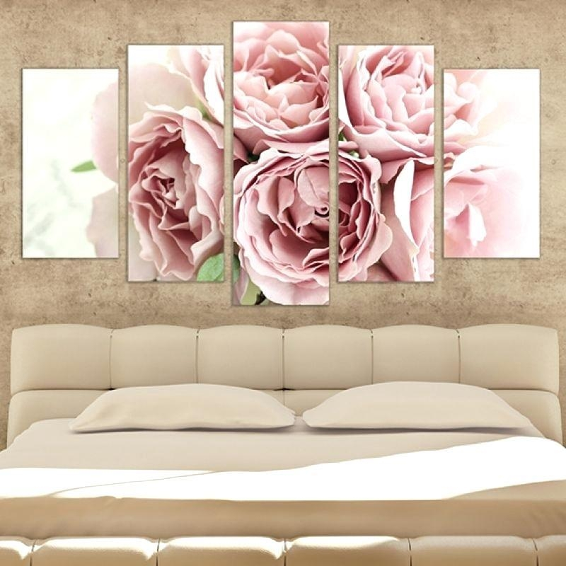 Canvas Bedroom Wall Art 1 Piece Huge Pictures Living Room Wall Art In Roses Canvas Wall Art (View 10 of 20)
