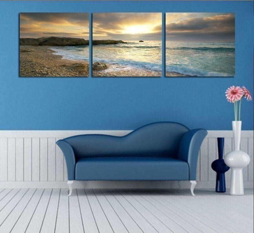 Canvas Bedroom Wall Art (Photos And Video) | Wylielauderhouse Within Ocean Canvas Wall Art (Image 11 of 20)