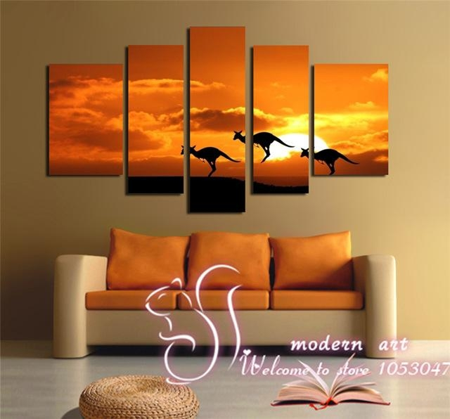 Canvas Painting Canvas Prints The Kangaroo Running Jump To The With Regard To Jump Canvas Wall Art (View 4 of 20)