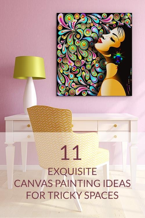 Canvas Painting Ideas For Tricky Spaces | Wall Art Prints Inside Quirky Canvas Wall Art (Image 7 of 20)