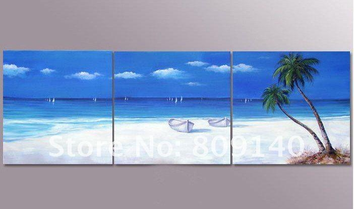 Canvas Painting Of Beach – Best Image Wallpaper Within Canvas Wall Art Beach Scenes (Image 11 of 20)