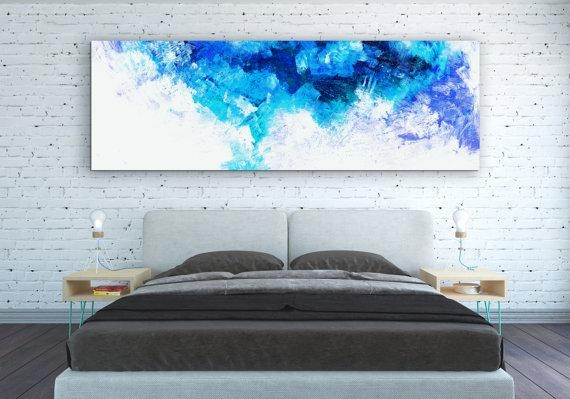 Canvas Print Abstract Wall Art Horizontal Poster Abstract Intended For Horizontal Abstract Wall Art (View 13 of 20)
