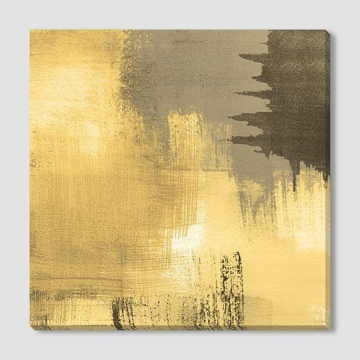 Canvas Print Pertaining To Gold Canvas Wall Art (View 14 of 20)