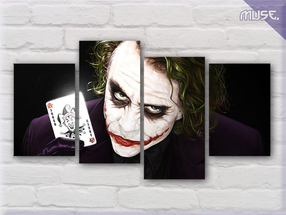 Canvas Print Wall Art Home Decor Painting Heath Ledger The Joker Pertaining To Joker Canvas Wall Art (View 2 of 20)