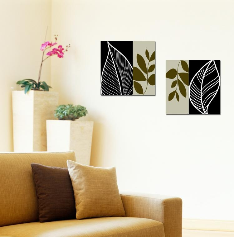 Canvas Prints Home Decor, Wholesale Picture Frames And Wholesale Regarding Leaves Canvas Wall Art (Image 5 of 20)