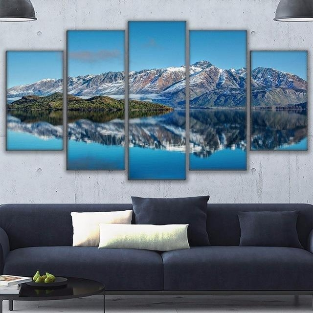 Canvas Prints Poster Wall Art Frame Home Decor 5 Piece Queenstown In Mountains Canvas Wall Art (Image 8 of 20)