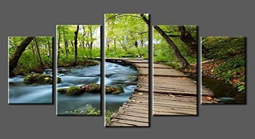 Canvas Prints Sk0010 Wall Art Bridge The Woods Stretched And Within Nature Canvas Wall Art (Image 9 of 20)