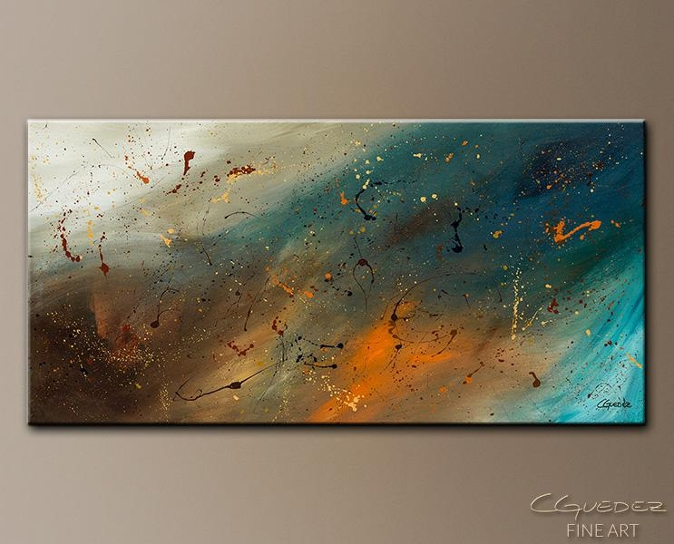 Canvas Wall Art Abstract Sensation – Large Abstract Painting In Blue And Brown Canvas Wall Art (View 16 of 20)