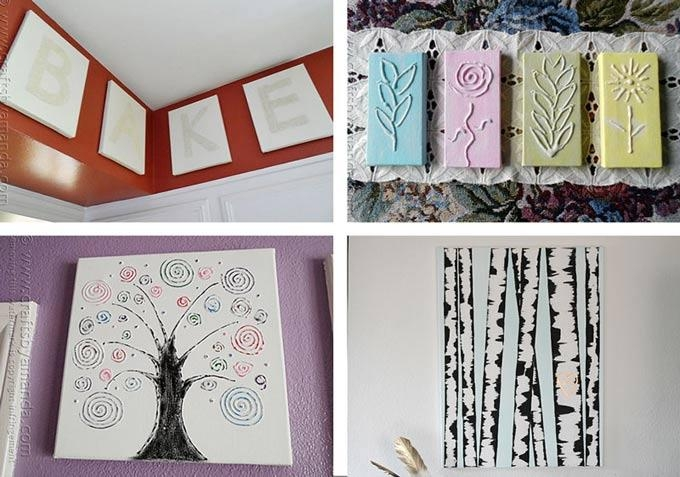 Canvas Wall Art Ideas: 30+ Canvas Tutorials With Regard To Homemade Canvas Wall Art (Image 9 of 20)