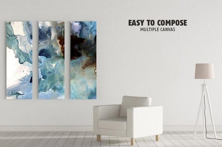 Canvas Wall Art Mockup: Canvas Mockup Psd Design Templates For Art With Regard To Mockup Canvas Wall Art (Image 15 of 20)