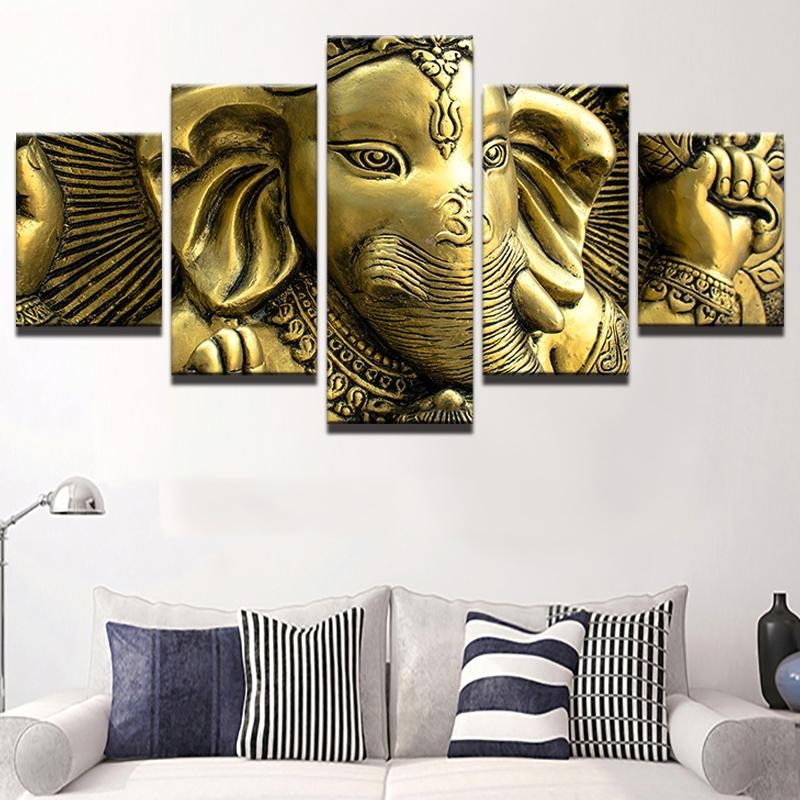 Canvas Wall Art Pictures Home Decor Living Room Hd Printed 5 Piece In India Canvas Wall Art (Image 4 of 20)